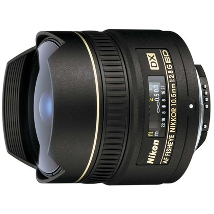 עדשת ניקון Nikon 10.5mm f/2.8 G ED FISHEYE