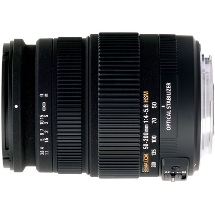עדשת סיגמה למצלמות קנון SIGMA 50-200mm F4-5.6 OS HSM