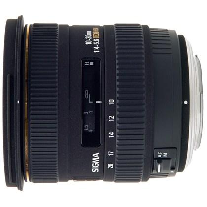עדשת סיגמה למצלמות ניקון SIGMA 10-20mm F4-5.6 EX HSM