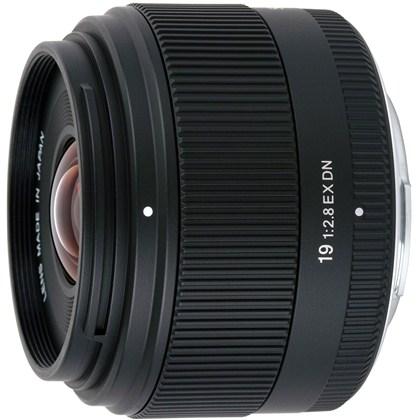 NEXלמצלמות   SIGMA 19mm F2.8 EX DN עדשת סיגמה- חדש