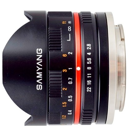 Samyang 8mm F2.8 Aspherical IF MC Fisheye for FUJI