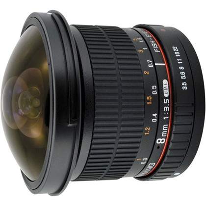 SAMYANG 8mm Fisheye f/3.5 IF MC for CANON DH