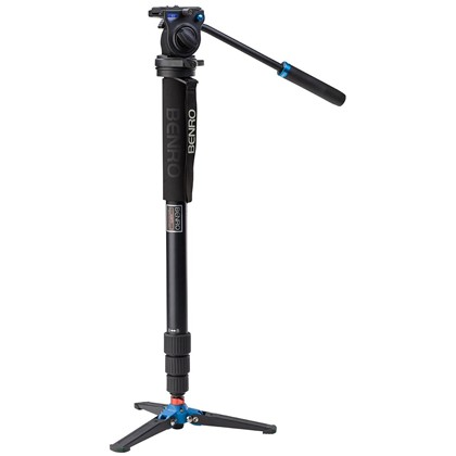 Benro A38TDS2 Aluminum Monopod with 3-Leg Locking Base and S2 Video Head