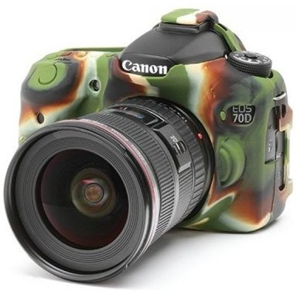 Silicone Camera Case  for Canon 70D Camouflage