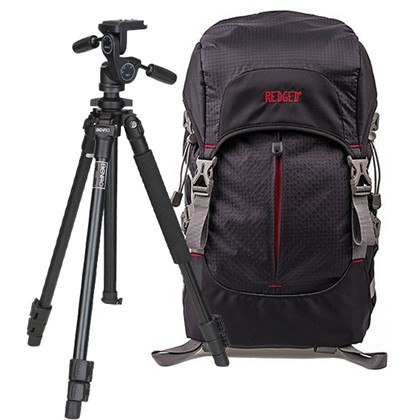 BENRO A600FHD3 Tripod KIT + REDGED Backpack
