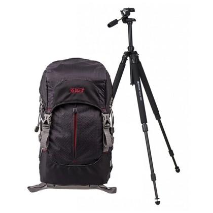 REDGED Adventure Sport Large Backpack + BRAUN CERES 1003 Tripod