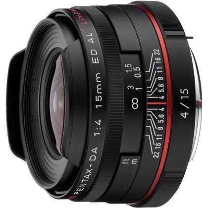 עדשה  RICOH PENTAX DA 15mm F4ED AL Limted Black W  S0021470