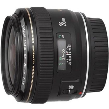 עדשת קנון רחבה בעלת אורך מוקד קבוע Canon 28mm f/1.8 USM