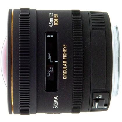 עדשת סיגמה למצלמות קנון SIGMA 4.5mm F2.8 EX DG  FISHEYE