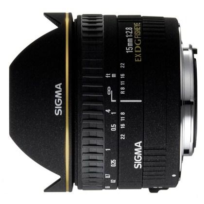 עדשת סיגמה למצלמות ניקון SIGMA 15mm F2.8 EX DG
