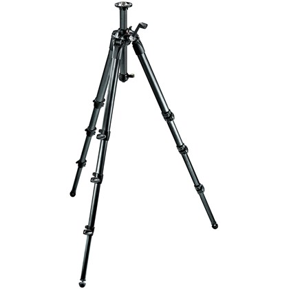Manfrotto 057 CF Tripod 4 sections +  גיר