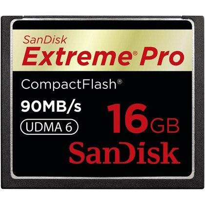 Extreme Pro Compact Flash 16GB, 90MB/S