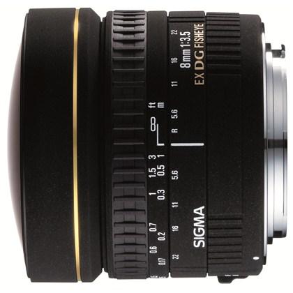 עדשת סיגמה למצלמות ניקון SIGMA 8mm F3.5 EX DG