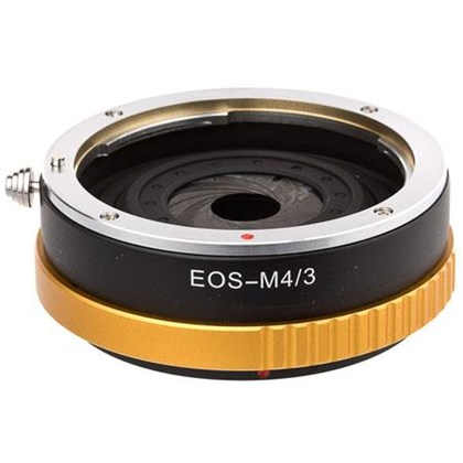 Pro Optic Lens Adapter with Adjustable Diaphragm, Canon EOS Lens to Micro 4/3 Body Mount - MFT