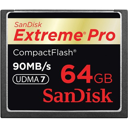 Extreme Pro Compact Flash 64GB, 90MB/S