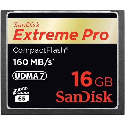 Extreme Pro CF 160MB/s 16 GB VPG 65, UDMA 7
