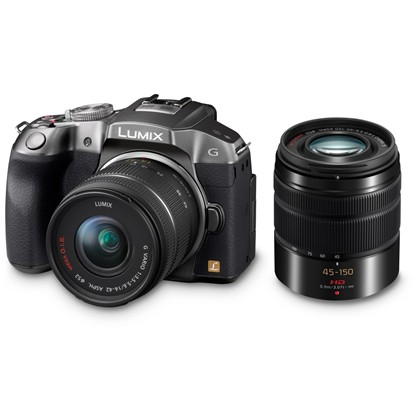 Panasonic Lumix G6 Black With 14-42mm & 45-150 Twin Kit