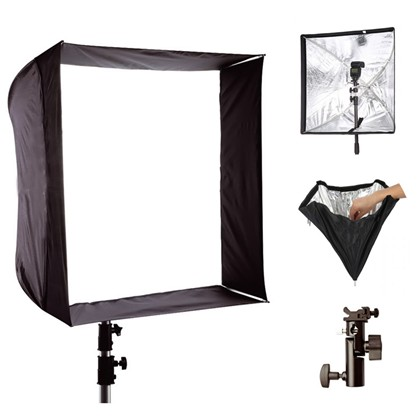 foldable umbrella softbox 70cm, +holder