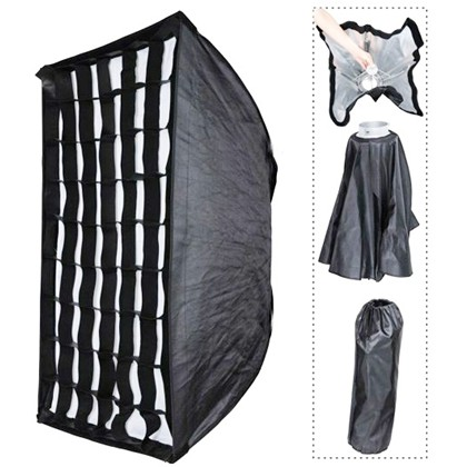foldable umbrella softbox 60x90cm +grid