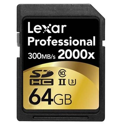 64GB 2000x Professional SDXC RDR UII
