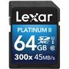 Lexar 64gb Sdhc 300x Platinum Ii (Class 10) U1