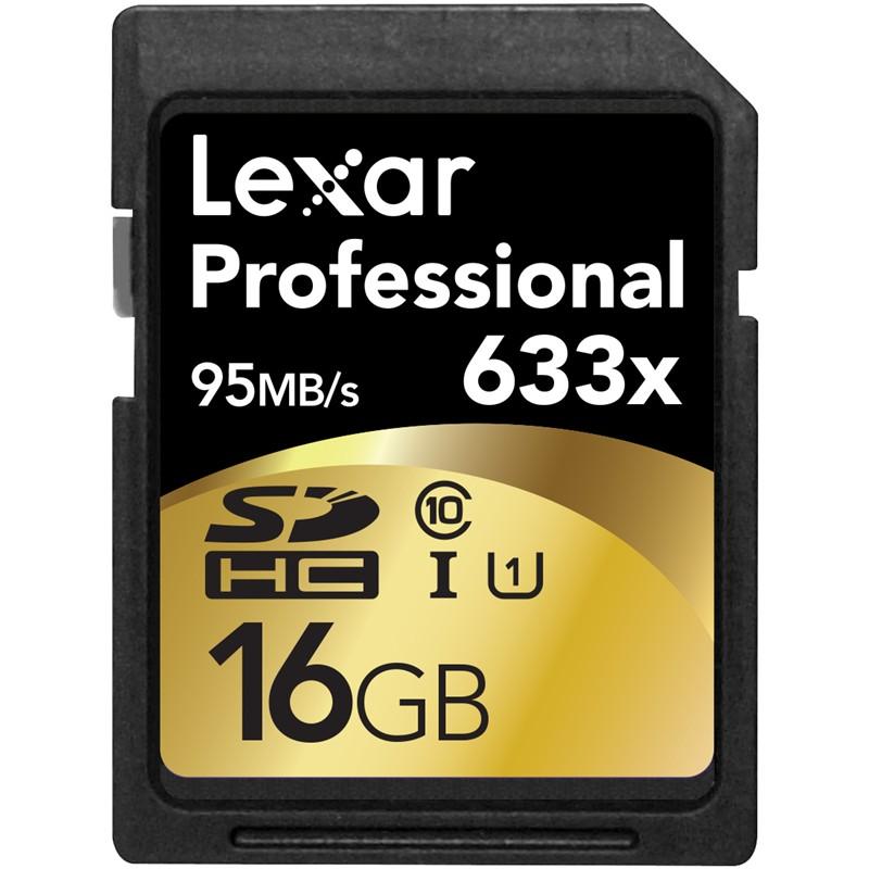 Lexar 16GB 633X Professional SDHC UHS-1 (Class 10) U1