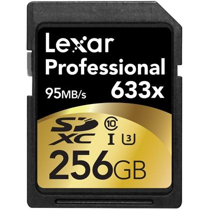 Lexar 256GB 633X Professional SDHC UHS-1 (Class 10) U1