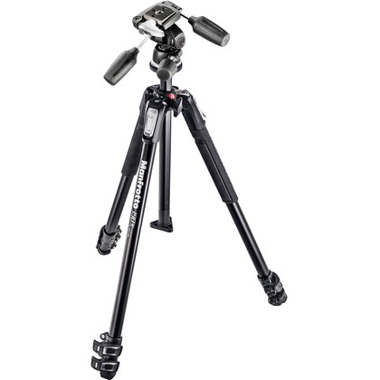 Manfrotto MT190X3-3W Aluminum Tripod with 804RC2 3-Way Pan/Tilt Head