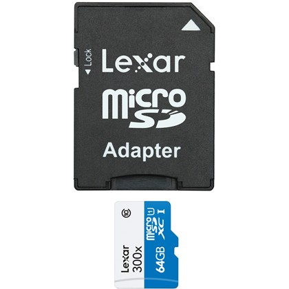64GB microSDHC High Speed with adapter (Class 10)