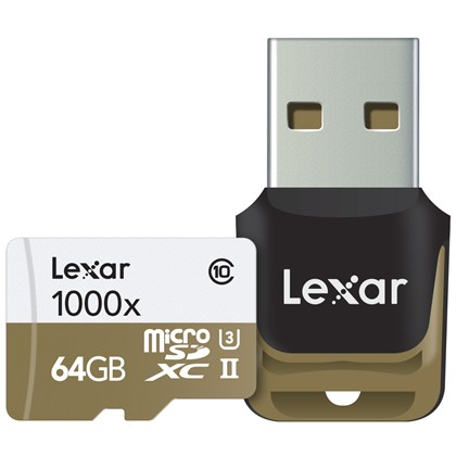 64GB microSDXC UHS-II 1000x with Reader (Class 10) U3