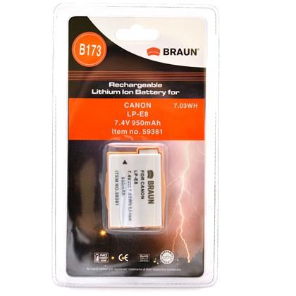סוללה חילופית BRAUN LP-E8