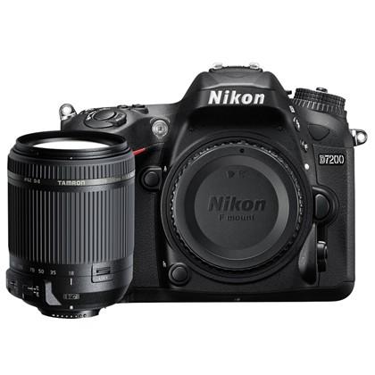 מצלמה DSLR ניקון Nikon D7200 Body + Tamron 18-200 VC - קיט