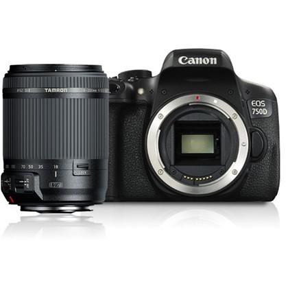 מצלמה DSLR קנון Canon 750d + Tamron 18-200mm VC - קיט