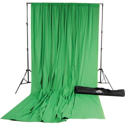 Savage Solid muslin 3x7m green KIT (chroma)