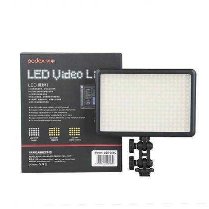 תאורה לוידאו תעשייתי גודוקס GODOX CHANGABLE LED 308II +BARNDOORS