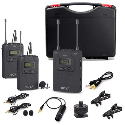 BOYA WM8 UHF Dual channel Wireless mic