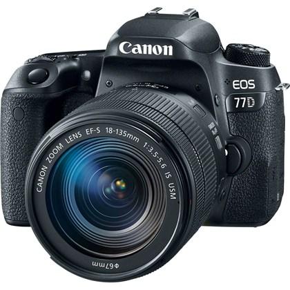 מצלמה DSLR קנון Canon EOS77D + 18-135 IS USM Nano - קיט