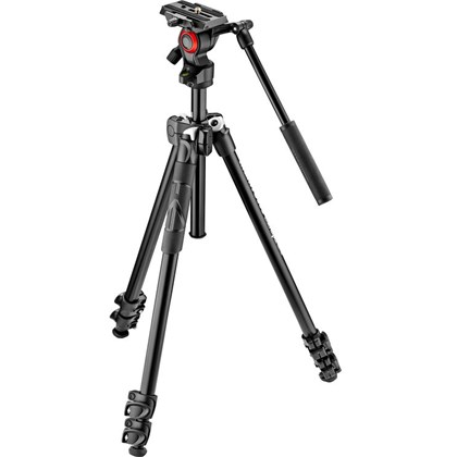 Manfrotto 290 Tripod with Befree Live Fluid Video Head Kit