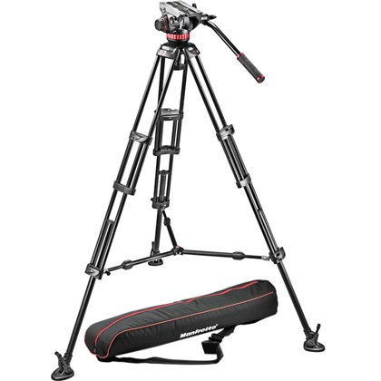 Manfrotto MVH502A Fluid Head and 546B Tripod System with Bag