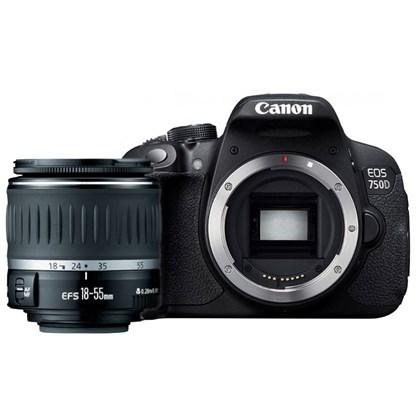 מצלמה DSLR קנון Canon 750D + 18-55 DC III - קיט