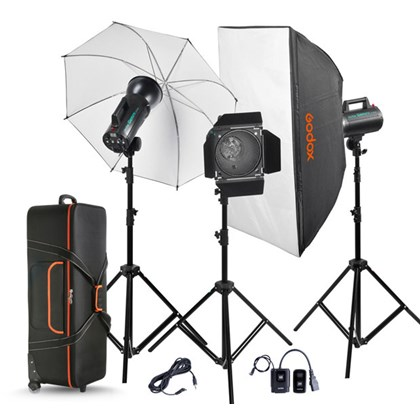 GODOX QS400II QUICK Series  STUDIO TRIPLE FLASH kit nikon