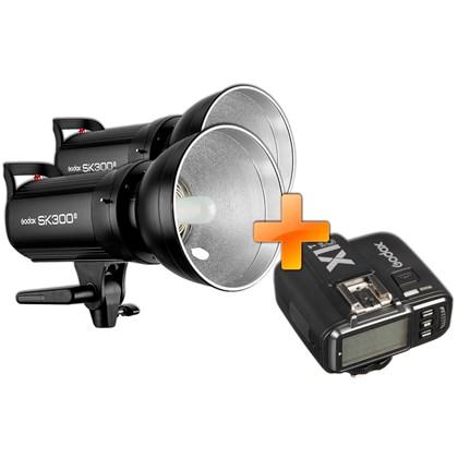 GODOX SK300 II Double kit + X1T