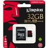 KINGSTON 32Gb MicroSD Canvas React 100MBs