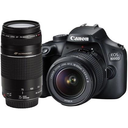 מצלמה DSLR קנון CANON EOS 4000D + 18-55 + 75-300 - קיט