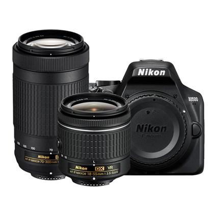 מצלמה DSLR ניקון NIKON D3500 + 18-55 VR + 70300 VR - קיט