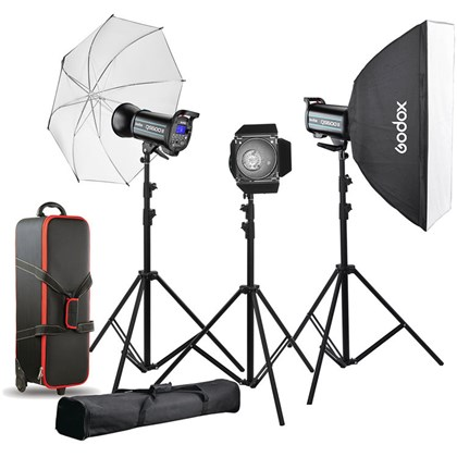GODOX QS600II QUICK Series STUDIO TRIPLE FLASH +XT1 Canon