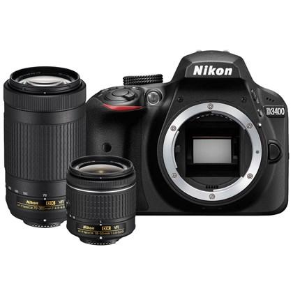 מצלמה DSLR ניקון Nikon D3400 18-55mm VR and 70-300mm VR
