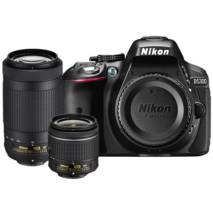 Nikon D5300 18-55mm VR and 70-300mm VR