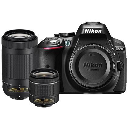 מצלמה DSLR ניקון Nikon D5300 18-55mm VR and 70-300mm VR