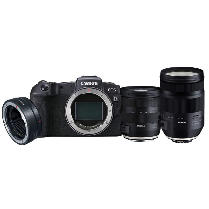 מצלמה חסרת מראה קנון Canon EOS RP Body + M.Adaptor EF + Tamron(17-35+35-150) - קיט